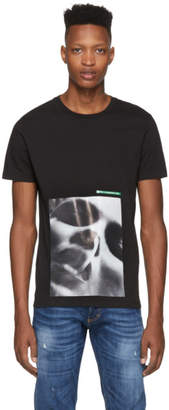DSQUARED2 Black Mert and Marcus Edition Female Face T-Shirt