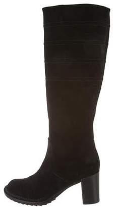 Alberto Fermani Suede Round-Toe Boots