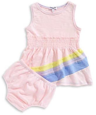 Splendid Two-Piece Rainbow Dress and Panty Set
