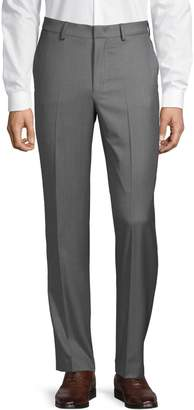 DKNY Slim-Fit Wool Flat-Front Pants