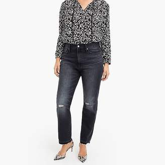 Point Sur high-rise retro straight jean in charcoal wash