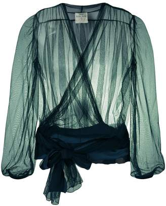 Forte Forte wrapped front tulle blouse