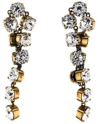 Crystal Twist Drop Earrings