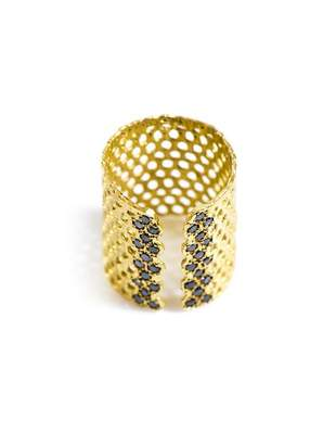 Black Diamond Lara Melchior - Bague I And Gold Plated Ring - Womens - Gold