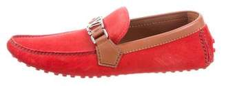Louis Vuitton Suede Driving Loafers