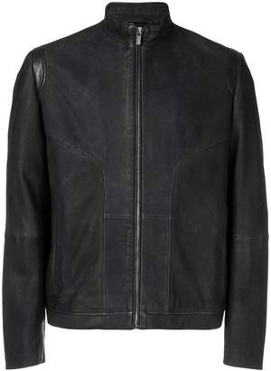 HUGO BOSS leather biker jacket