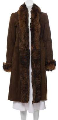 Ralph Lauren Purple Label Long Shearling Coat