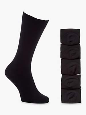 John Lewis & Partners Cotton Rich Socks, Pack of 5