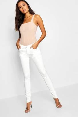 boohoo White 5 Pck Skinny Jeans