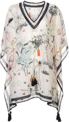 Tory Burch floral print beach kaftan