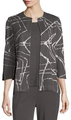 Misook Spiderweb 3/4-Sleeve Jacket
