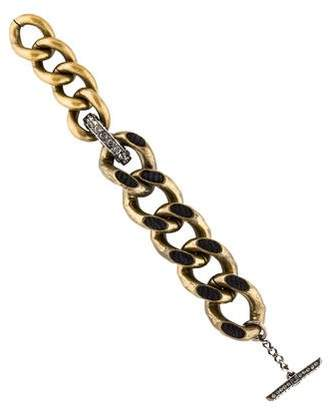 Lanvin Crystal & Rope Curb Chain Bracelet