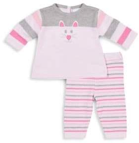Florence Eiseman Baby Girl's Two-Piece Kitty Graphic Sweater and Pant Set