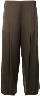 Theory pleated cropped trousers