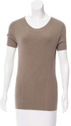 Donna Karan Short Sleeve Knit Top