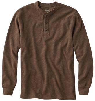 L.L. Bean L.L.Bean Men's Unshrinkable Mini-Waffle Henley, Long-Sleeve Traditional Fit