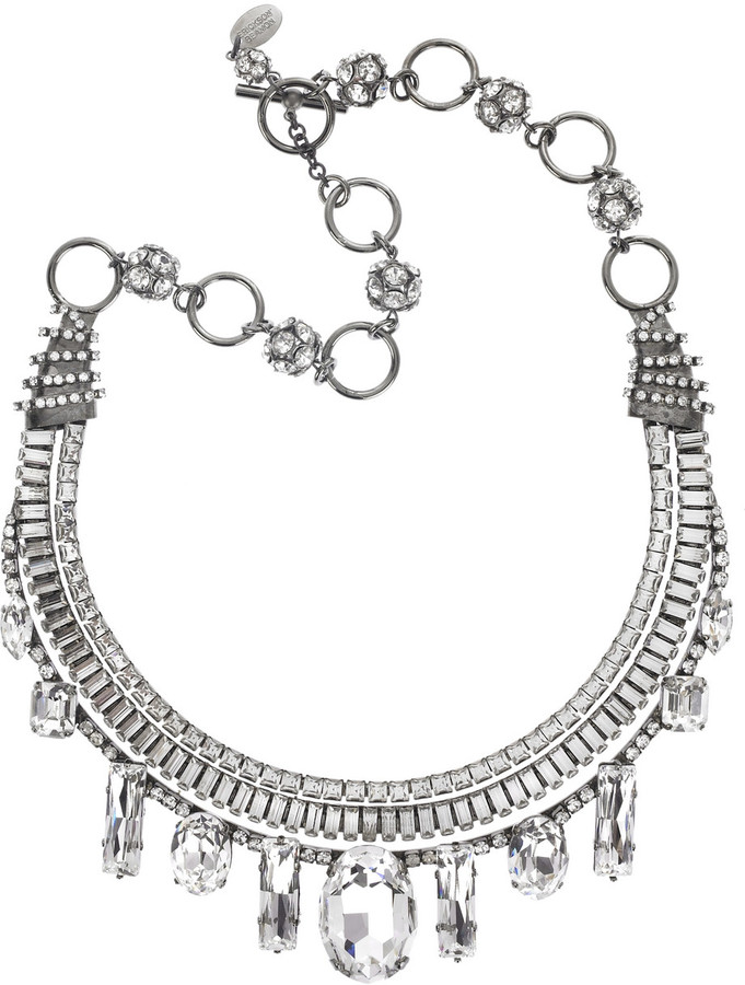 Erickson Beamon Icon crystal necklace