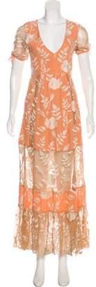 For Love & Lemons Embroidered Maxi Dress