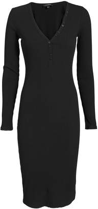 Intermix Molly Button Front Ribbed Dress