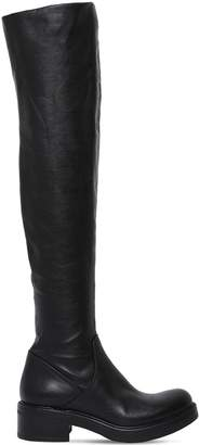 Strategia 30mm Stretch Faux Leather Boots