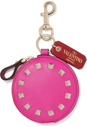 Valentino Garavani The Rockstud Leather Bag Charm - Baby pink