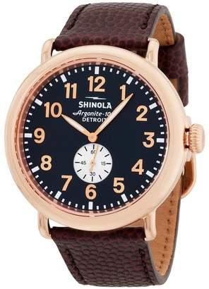 Shinola Men's 47mm Leather Band Case Quartz Dial Analog Watch 11000168