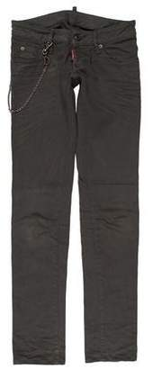 DSQUARED2 Chain-Accented Low-Rise Jeans