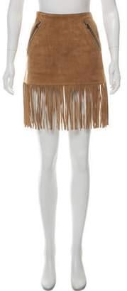 Barbara Bui Suede Mini Skirt Beige Suede Mini Skirt