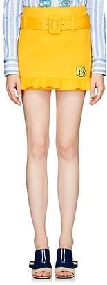 Prada Women's Logo Neoprene Miniskirt