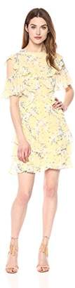 Rebecca Taylor Women's Open Shoulder Lemon Dress