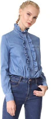 Stella McCartney Ruffle Shirt $735 thestylecure.com