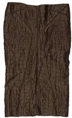 Tom Ford Linen Textured Skirt