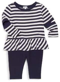 Splendid Baby Girl's Striped Cut-Out Tunic& Leggings Two-Piece Set