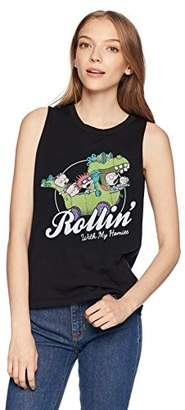 Fifth Sun Women's Rugrats Rollin With My Homies Group Graphic Muscle Tank Top