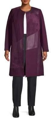 Calvin Klein Plus Textured Long Jacket