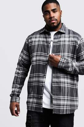 Big & Tall Grey Check Regular Fit Shirt