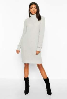 boohoo Tall Soft Knit Roll Neck Jumper Dress