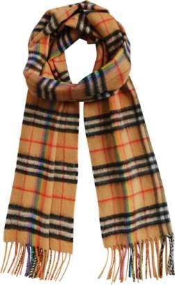 Burberry Rainbow Vintage check scarf 168x30