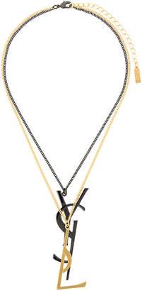 Saint Laurent Monogram Deconstructed pendant necklace