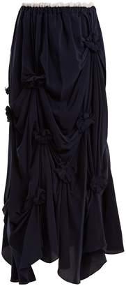 J.W.Anderson Florette-embellished ruched silk-crepe skirt