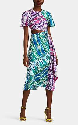 Prabal Gurung Women's Tie-Dyed Silk Twill Wrap Dress - Tie-Dye