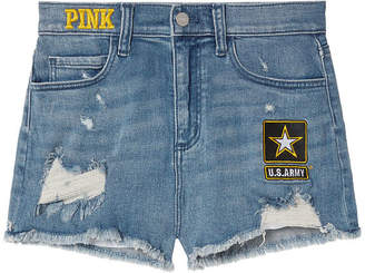 PINK Army High-Waist Denim Short