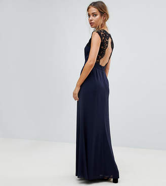 8fa5e892d2 Elise Ryan Petite Maxi Dress With Cut Out Lace Back