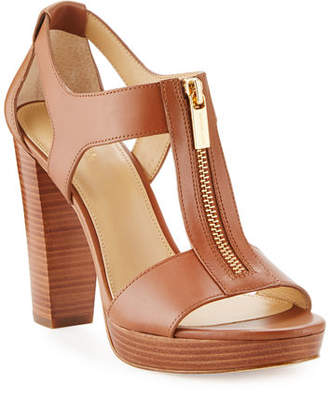 MICHAEL Michael Kors Berkley Leather Zip Sandals