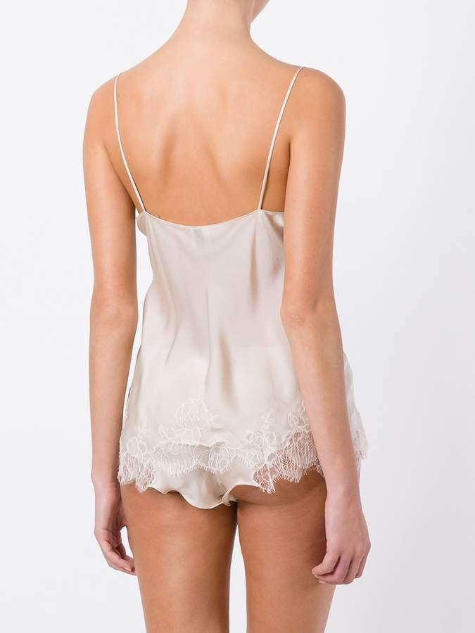 Carine Gilson lace insert camisole