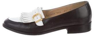 Salvatore Ferragamo Leather Bicolor Loafers