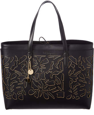 Salvatore Ferragamo Lana Laser Cut Leather Tote
