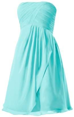 Tiffany & Co. DaisyFormals reg; Short Knee Bridesmaids Dress Beach Wedding Party Gown(BM4046S Blue