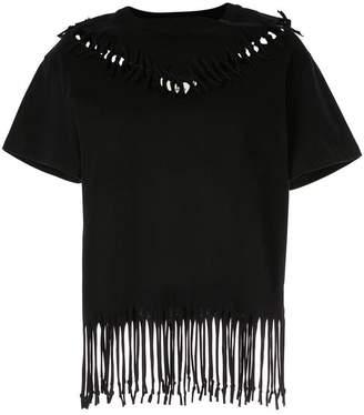 Puma Maison Yasuhiro fringed sewn-up T-shirt