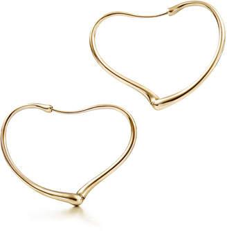 Tiffany Co Elsa Peretti Open Heart Hoop Earrings